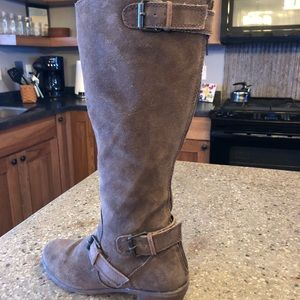 Shoes - Dark tan suede boots